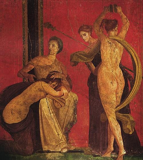 Pompéi, fresque de la maison de Dionysos